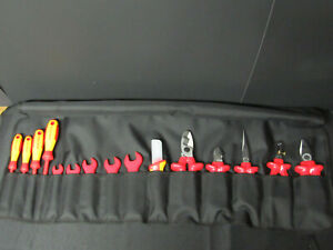 Knipex 98 99 13 Tool Set 15 Piece 1 000v Insulated Pliers Screwdrivers Wrenches