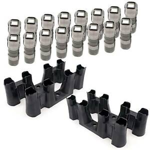 Set 16 Hydraulic Roller Lifters 4 Trays guide For Chevy 5 3 5 7 6 0 Ls1 Ls2 Ls7