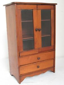 Antique Pine Miniature Child S Country Cupboard C 1800 17 Tall