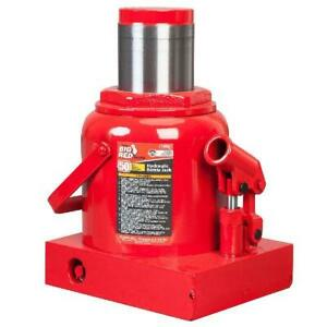Hydraulic Industrial Steel Bottle Jack Lift Big Red 50 Ton Capacity Heavy Duty