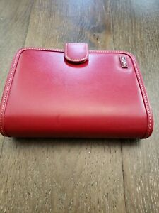 Franklin Covey Compact Planner Red W binder Organizer Cardholder Red