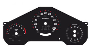 Custom Speedometer Instrument Cluster Gauge Faceplate Overlay Honda Element
