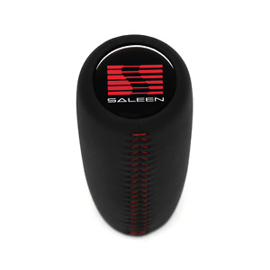 Ford Mustang 1979 2004 Saleen Weighted Leather Shift Knob 5 6 Speed Red Stitch