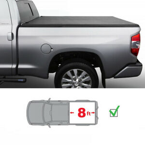 8in Long Bed Assemble Lock Tri Fold Tonneau Cover For 2009 2018 Ford F150
