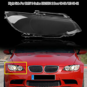 Right Clear Headlight Headlamp Lens Cover For Bmw M3 E92 E93 2 Door Coupe 06 10