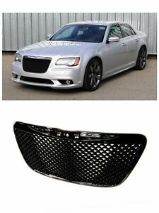 Fit 2011 2015 Chrysler 300 300c Gloss Black Front Grille Mesh Bentley Grill