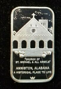 1978 WORLD WIDE MINT COCA COLA ANNISTON ALABAMA SILVER BAR 1 OZ .999 SCARCE