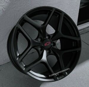 Camaro Z28 Style Satin Black Wheels Rims 2010 2017 Ss Rs Ls 20x10 20x11 Set