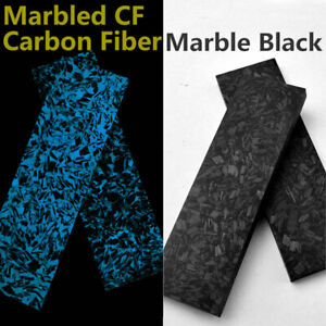 2pc Luminous Marbled Carbon Fiber Resin Blank Scale Plate Board For Knife Handle