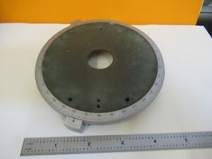 Leitz Germany Pol Stage Table Rotatable Microscope Part As Pictured