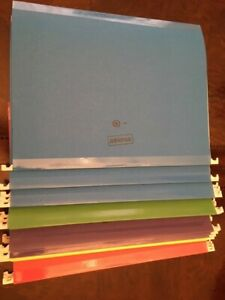 Staples Hanging File Folders Letter Size Assorted Colors 24 box