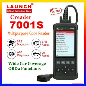 Launch Automotive Abs Srs Reset Scanner Obdii Code Reader Diagnostic Scan Tool