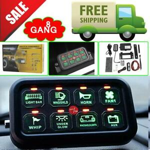 Marine Car Boat 8 Gang On off Switch Panel 12v 24v Electronic Relay System Wire