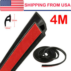 4m Car Door Strip P Shape Rubber Weather Seal Hollow Universal Weatherstrip 157