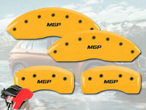 2008 2013 Bmw 328i Front Rear Yellow Mgp Brake Disc Caliper Covers 4pc Set