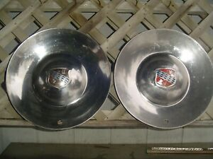 Two Vintage 1952 Buick Roadmaster 56c R Hubcaps Wheel Covers Center Cap Sombrero