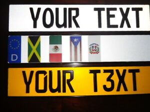 Customized European German Style Embossed Aluminum License Plates 9 Total Spaces