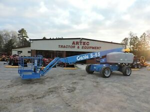 2011 Genie S 65 Boom Lift 65 Straight Reach Watch Video Only 4577 Hours