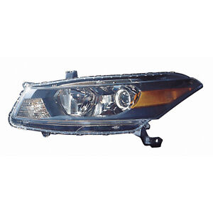 Headlight Left Driver Side Headlamp For 2011 2012 Honda Accord Coupe