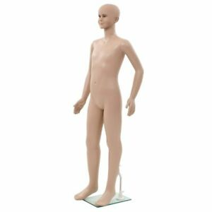 Full Body Child Mannequin With Glass Base Beige 55 1