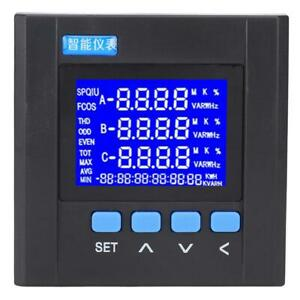 3 Phase Lcd Digital Voltage Volt Energy Power Panel Meter Rs485 Communication