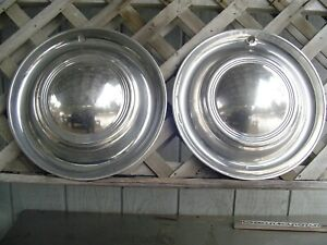 Two Vintage 15 In Lyon Lyons Mfg Co Hubcaps Wheel Covers Center Caps Rat Rod