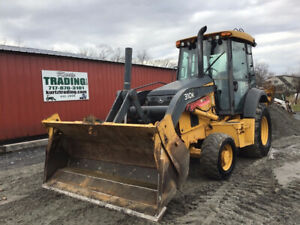 2014 John Deere 310k 4x4 Tractor Loader Backhoe W Cab 4 1 Bucket Powershift