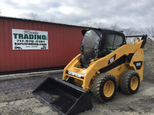 2008 Caterpillar 262c Skid Steer Loader W Cab Repainted Cheap