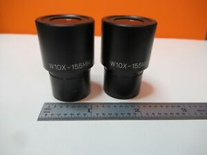 Pair Eyepieces W10x 15 5mm Ocular Meiji Microscope Part As Pictured