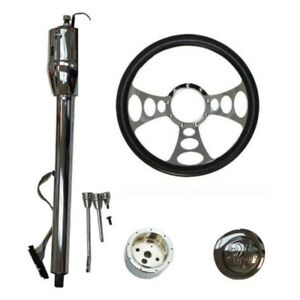 Manual Column 30 Gm No Key And Horn Button And Adapter And 14 Steering Wheel