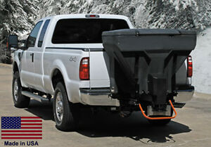 Spreader Commercial Salt Sand Tailgate Mounted V Box W Auger 825 Lb Cap