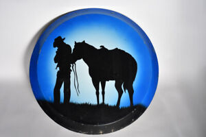 Vintage Van Spare Tire Hard Cover Cowboy Horse Rider Boogie Custom 2