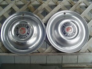 Two Vintage 1951 Dodge Coronet Meadowbrook Royal Hubcaps Wheel Covers Center Cap