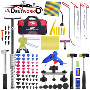 Us Paintless Repair Dent Puller Lifter Pdr Tools Slide Hammer Hail Removal Kit