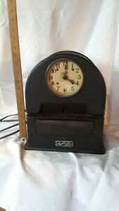 Vintage Simplex Timer Recorder Co Time Clock Pat No 1 777 889