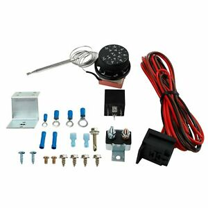 Adjustable 12v Electric Radiator Fan Thermostat 3 pin Control Relay Wire Kit