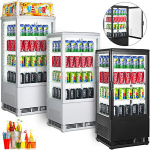 Refrigerated Display Case Beverage Display Refrigerator Led Lighted Refrigerator