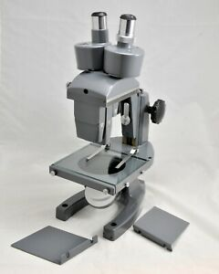 Bausch Lomb Stereo Microscope outstanding Complete 1953 Vintage Museum Piece