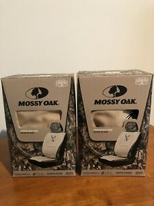 Nib Set Of 2 Mossy Oak Khaki Camo 2 Pc Lowback Seat Covers Hunting Camouflage