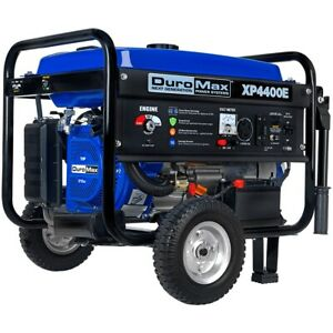 Duromax Xp4400e 4 400 w Portable Rv Ready Gas Powered Electric Start Generator
