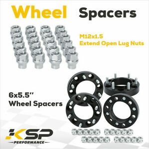 4 X 1 5 Wheel Spacers Adapters 6x5 5 For 4runner 12x1 5 Extend Open Lug Nuts