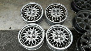 Jdm Bbs Ra Vw 15 Mesh Rims Wheels For Golf Mk1 Mk2 Pcd100x4