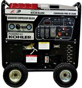 Amp Command Pro Iii 9500 3 In 1 Generator 35kw Compressor 110psi Welder 200a