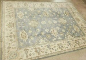 Sale 8 X10 Hand Knotted Super Turkish Oushak Carpet Rug Durable Vintage Wool
