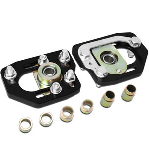 Fit 90 93 Ford Mustang Front Adjustable 3 0 Camber 2 0 Caster Plates Black