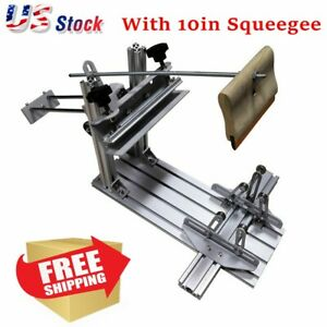 Usa Manual Cylinder Screen Printing Press For Pen cup Mug Bottle Squeegee