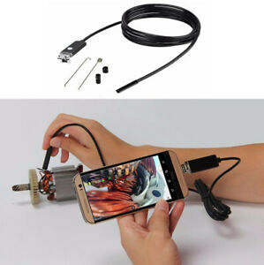 7mm Lens Usb Endoscope Inspection Camera Android Pc Hd Borescope Waterproof 6led