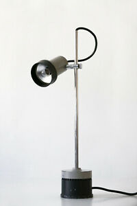 Rare Mid Century Modern Adjustable Minimalistic Table Lamp Wall Light 1960s