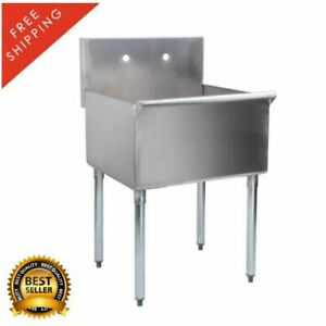 24 X 24 X 14 Stainless Steel Commercial Utility Sink Hand Wash Laundry Tub