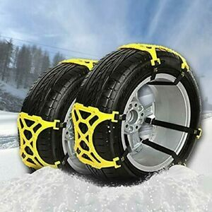 Vaygway Car Snow Tire Chains 6 Pc Anti Slip Chain Car Tire Chains For Snow
